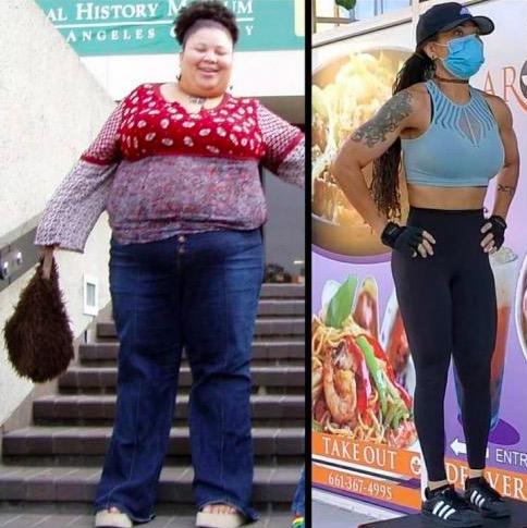 Женщина показала, как похудела, и поразила людей. Ещё бы: всё, что осталось от неё прежней - татуировка