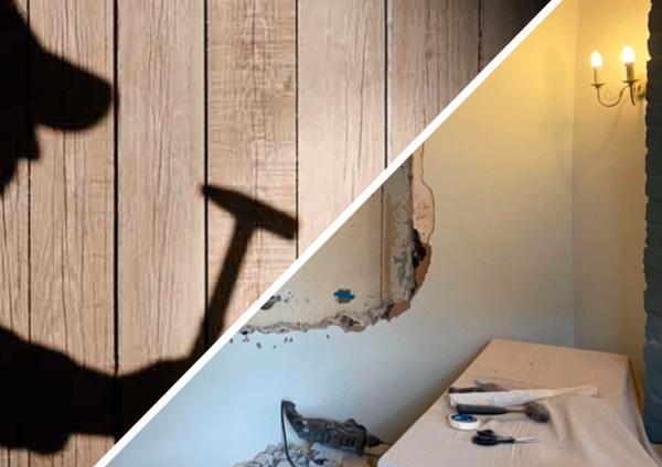Парень чувствовал, что в квартире есть секрет, но не знал где. Узнать правду о доме помогли плакат и молоток