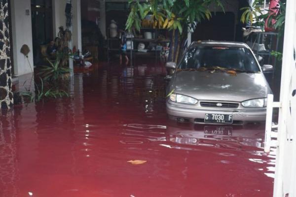 По улицам поселения в Индонезии бегут кровавые реки, но криминал и мистика тут не при чём. Однако,