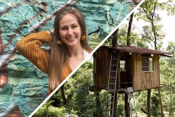 Девушка заглянула в свой домик на дереве, а там новый хозяин. Бояться квартиранта не стоило, а вот людей - да