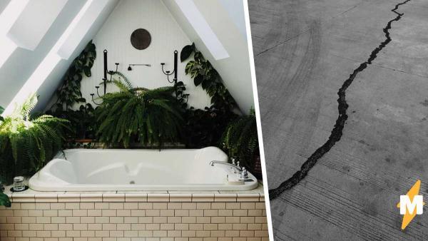 Девушка показала, что происходит с ванной во время землетрясения. Лучшей аквадискотеки люди не видели