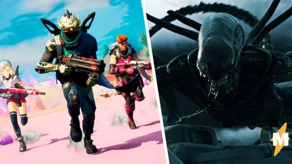 """В Fortnite открылся портал и геймеры уже видят там """"Чужого"""". Создатели молчат, но сливы подтверждают теорию"""