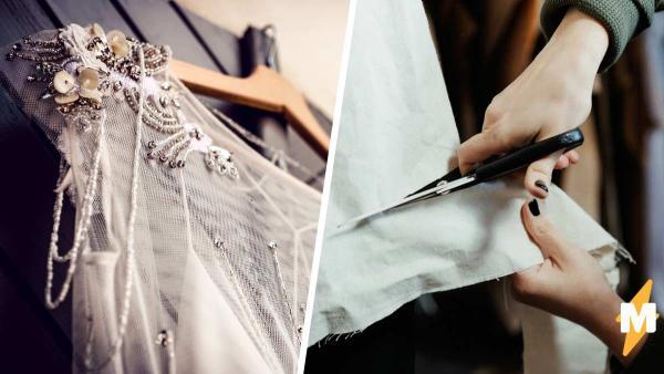 в ателье так постарались со свадебным платьем невесты, что чуть не отменили свадьбу