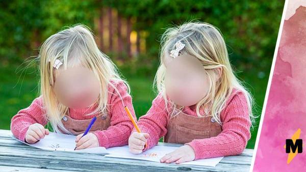Сёстрам не нужно зеркало, ведь они сами стали его заменой. Ещё бы - близняшки противоположность друг друга