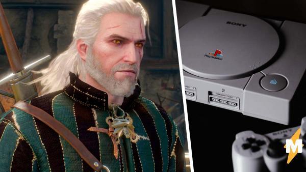 Блогер показал, как бы выглядел «Ведьмак 3» на PS1, и разрушил сцену из ванны. Теперь геймеры довольны финалом