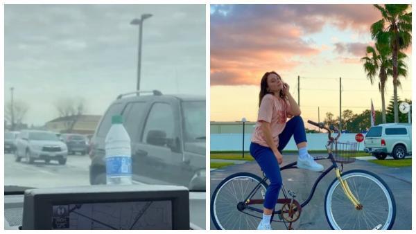 Тиктокерша увидела на капоте машины бутылку, и хорошо, что не взяла её.