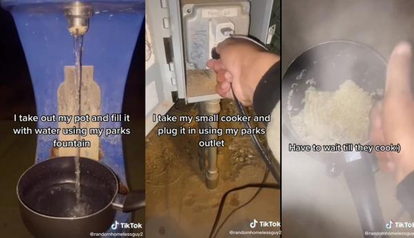 Бездомный показал, как готовит еду, и сломал систему. Ведь от блюд подростка внезапно потекли слюнки