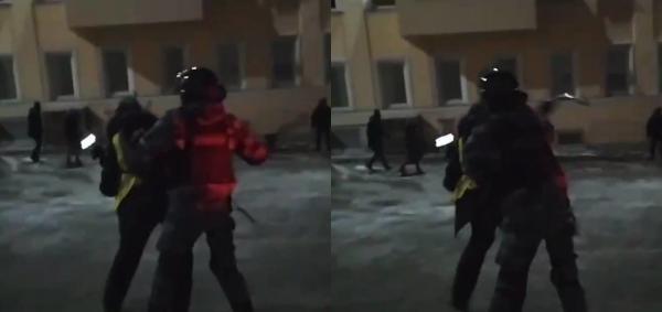 Сотни задержанных, избиения и собаки в автозаке. В РФ 2 февраля прошли протесты, и действовали силовики жёстко