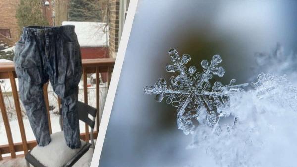 Писатель превращает штаны в ледяные скульптуры на морозе. Это не пранк, а секретное орудие войны водителей