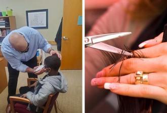 Школьник стыдился причёски и не хотел снимать шапку. Так он попал в кабинет директора, а вышел оттуда стилягой