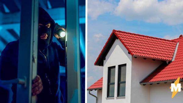 Вор влез в дом пенсионера, но карма была мгновенной. Сидя на крыше, нарушитель мечтал о приезде полиции