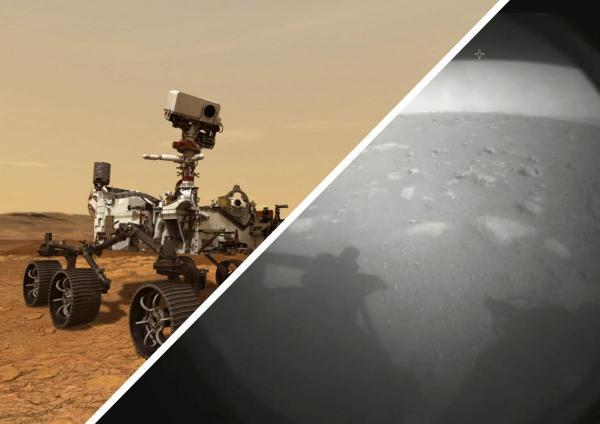 Ровер Perseverance показал свои первые фото с Марса и подарил мем. Пристегнитесь, вариации - просто космос