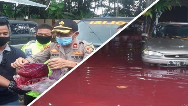 По улицам деревни в Индонезии бегут реки крови, но криминал тут не при чём. Однако виновный всё же есть