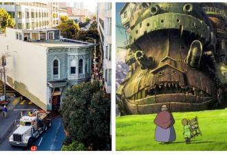 Ходячий замок существует, доказал житель Сан-Франциско. Ведь его старый дом сам докатился до нового адреса