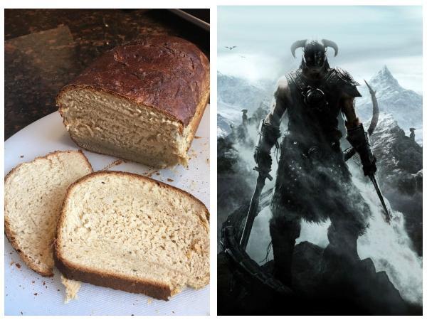 Налетайте, Довакины, хлеб из Skyrim уже в реальности. Блогерша испекла такой, и от его вида тянет в Вайтран