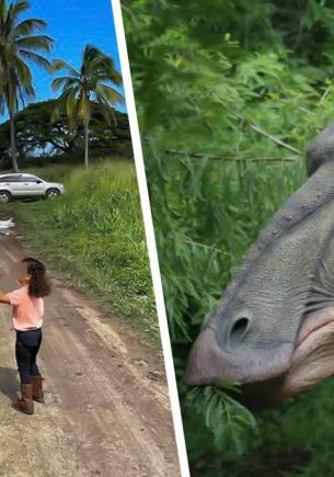 Дуэйн Джонсон объяснил дочке, почему он динозавр, а та не поняла. Зато взгляд девочки разбивает скалы и сердца