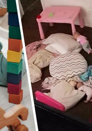 На кадрах с видеоняни малыш заполз под кровать. Но то, как он это сделал, заставило людей поверить в призраков