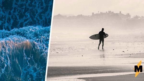 Сёрфер рассекал волны, но стихия оказалась сильнее. Пришлось экстренно спасаться с помощью смекалки