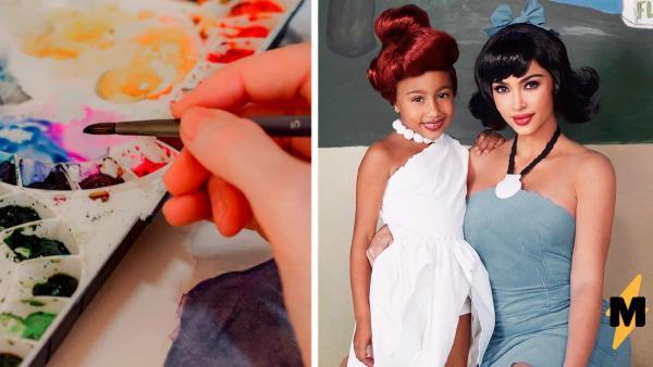 Фаны увидели картину дочки Ким Кардашьян, и разразился скандал. То, что Норт – вторая Фрида Кало, они не знали