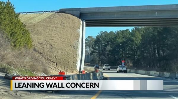 Стена на трассе пугает водителей, ведь выглядит так, будто падает. Но это иллюзия, от которой мурашки по спине