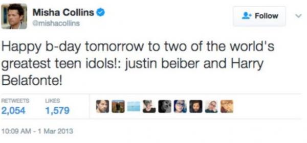 Миша Коллинз назвал Джастина Бибера малышом, и это не признание. Лучший пранк Дженсена Эклса выглядит вот так