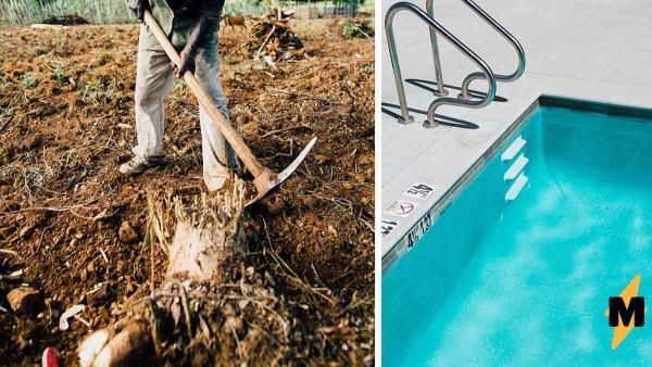 Работник раскопал бассейн - и к такому его жизнь не готовила. Теперь он знает, что хоббиты обитают не в Шире