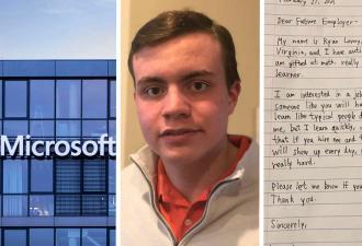 Аутист не понимал, как найти работу, и написал объявление от руки. От такого резюме дрогнул даже Microsoft