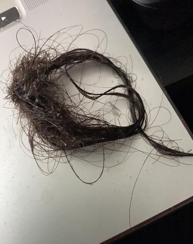 Дочки предложили маме поиграть в парикмахера, и согласие стало роковым. Волосы попрощались с ней по-английски