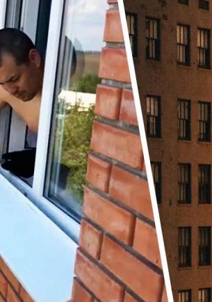 Мужчина снял скат у окна, а там — маленькие Бэтмены. Увидев столько киношных соседей, зрители закрывают глаза