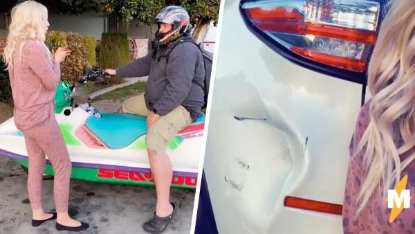 Жена на видео извинилась перед мужем за разбитое авто, но люди злы. Они считают: в семье