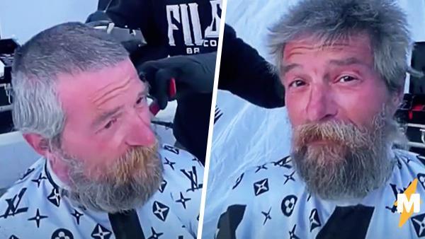 Бездомный хотел постричься, но барбер сделал гораздо больше. Теперь по такой красоте плачет даже Голливуд