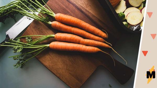 Повар-любитель порезал морковь, и иллюзии было не избежать. Кажется, мы знаем, как выглядит Мистик мира овощей