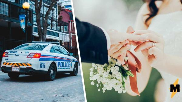 Невеста выбежала на дорогу во время свадьбы и подняла руку вверх. Чтобы понять почему, достаточно одного фото