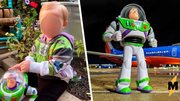 Ребёнок потерял игрушечного Базза Лайнера, но плакать рано. Астронавта ждало приключение, и он о нём рассказал