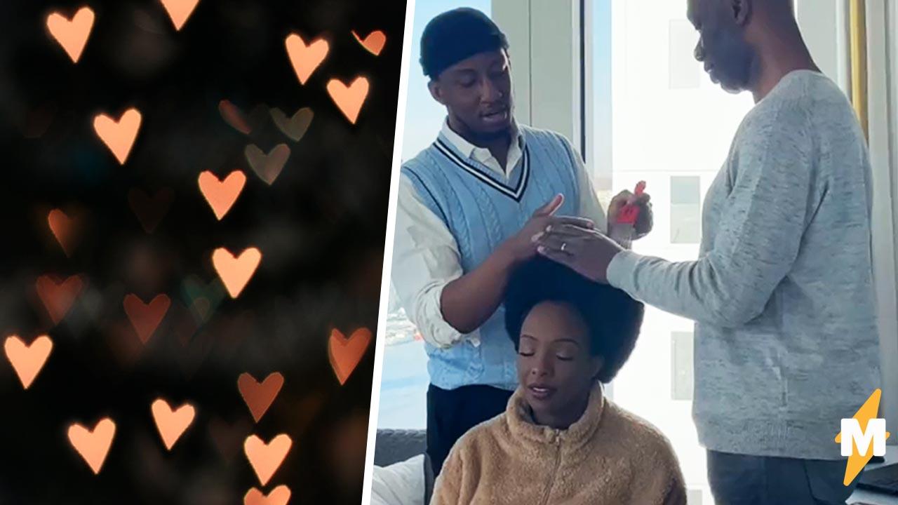 Отец учит сына делать маме причёску, и люди плачут. Узнав, зачем парню такой урок, они хотят в эту семью
