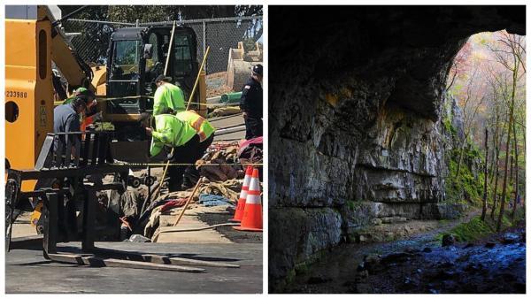 Строители наткнулись на подземную пещеру, но правильно сделали, что не вошли. Её обитатели не ждали гостей
