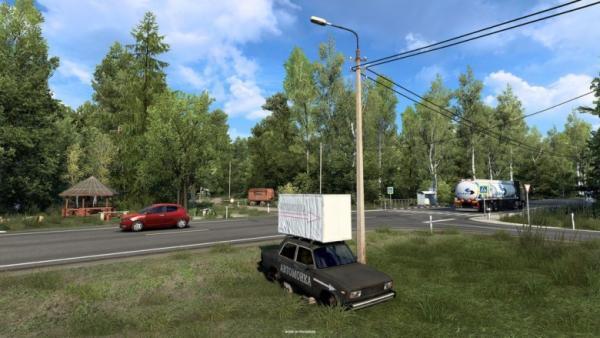 В игре Euro Truck Simulator 2 появятся карты «Сердце России». А американцы шутят: без взяток и ям не обойтись