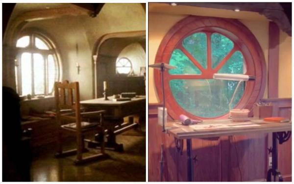 """Мужчина сделал ремонт в подвале и открыл портал в """"Хоббита"""". Его новое рабочее место – мечта фанатов Толкина"""