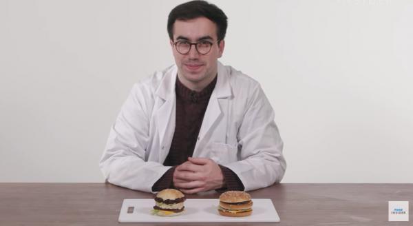 """Химик создал """"Биг Мак"""" из тех ингредиентов, что и в """"Макдоналдсе"""". Но люди перехотели бургер, и причина есть"""