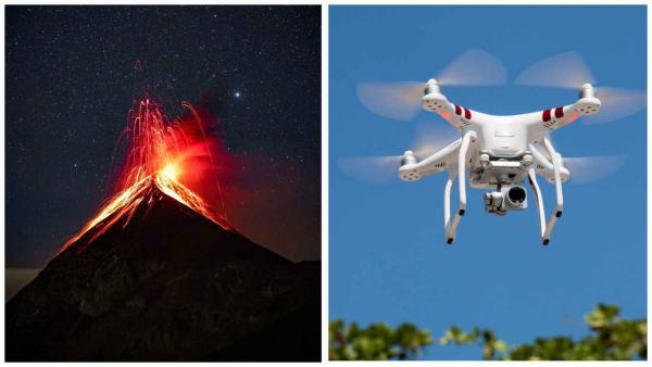 Блогер снял дроном извержение внутри вулкана, и девайс не выдержал. Зато мы узнали, что видел Голлум в Мордоре