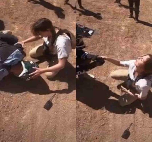Мотоциклист разбился на байке, а его девушка счастлива. Её можно понять, внезапно парень ожил и достал кольцо