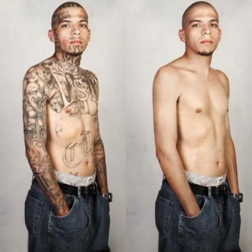 Бантитов растрогали их собственные фото. На них — чистая кожа, ни одной татуировки и кажется,