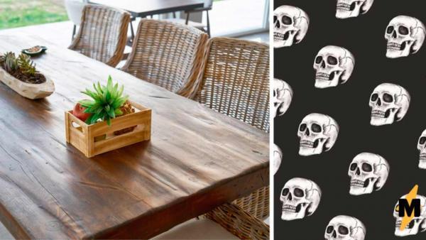 Домовладелица заметила у стола новую деталь и хорошо, что не тронула её. От таких соседей лучше сразу съезжать