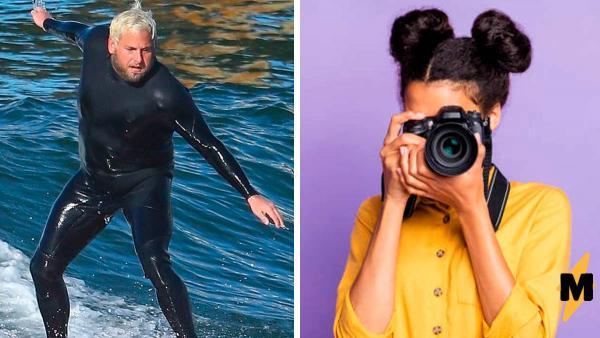Фотографы поймали Джону Хилла на пляже, а он ответил. Если это не фаталити для папарацци, то что?