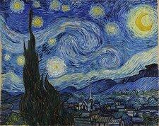 """Жилец растопил в доме печь картиной Ван Гога """"Звёздная ночь"""". В бревне-импостере сложно развидеть шедевр"""