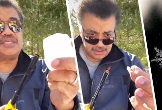 Нил Деграсс Тайсон попытался растопить снег зажигалкой. Вышла наука о пустой трате времени, ведь физика – сила