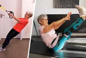 Бабушка за 80 стала фитнес-звездой тиктока. Её отличной форме позавидуют даже олимпийские спортсмены