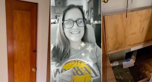 Блогерша нашла в доме потайной люк и побоялась туда спускаться. И у людей к ней больше вопросов, чем к подвалу