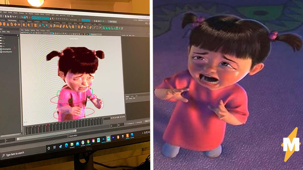 Мультипликатор показал, что чувствует, когда анимирует персонажа. И это мем с Бу из Корпорации монстров