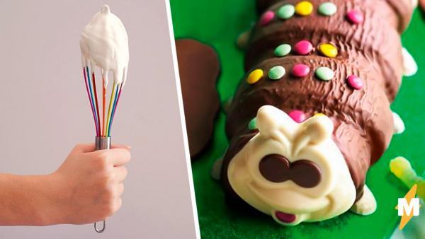 Родители испекли тортик, но съедобным его не назовёшь. Получилось нечто, от чего хочется плакать и смеяться
